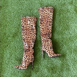 Over The Knee Boots. Cheetah